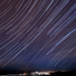 Morgan Hill Star Trails — Stock Photo