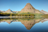 Two Medicine Lake Reflection — Stock Photo