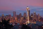 Sunrise on Seattle Skyline — Stock Photo