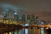 Philadelphia Skyline at Night — Stock Photo