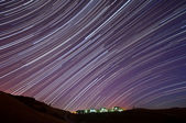 IBM Almaden Research Center Star Trails — Stock Photo