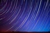 Sky Trails Over Mt. Hamilton — Stock Photo