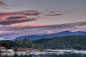 Lake Pend Oreille Sunset, East Hope, Idaho — Stock Photo