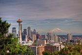 Seattle and Ranier — Stock Photo