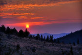 Sunrise on Custer National Forest — Stock Photo