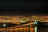 San Francisco Skyline at Night — Stock Photo