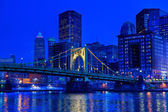 Pittsburgh at Night — Stock Photo