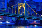 Roberto Clemente Bridge at Night — Stock Photo