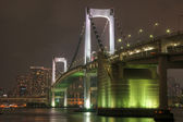 Rainbow Bridge at Night — 图库照片
