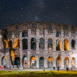 Rome Colosseum at night — Stock Photo