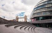Tower Bridge and London City Hall — Stock Photo
