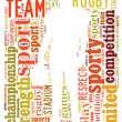 American football word cloud — Foto de Stock