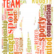 American football word cloud — Stock fotografie