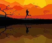Man running — Stock Photo