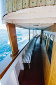 Inside view of sailing cruise — Stock Photo