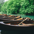 Wooden boats for hire — Stock Photo