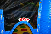 Exit the Inflatable Children's Bounce House — Stock Photo
