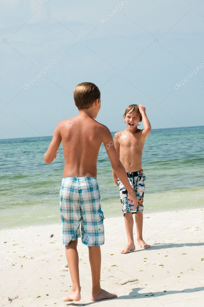 two young boys on the beach stock photo tammykayphoto 20092099