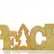 Gold Glitter Peace - Stock Photo