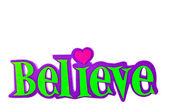 Believe-word — Stock Photo