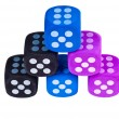 Six dice with sixes showing. - Stock Photo