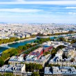 Aerial view from top of Eiffel Tower. — Stock Photo #21306633