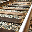 Railway up-close — Stock Photo