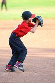 Malá liga baseballový hráč — Stock fotografie