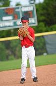Nervous baseball pitcher — Stock Photo