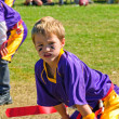 Youth flag football player - Stock Photo