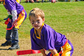 Youth flag football player — Stock Photo