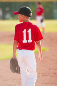 Youth baseball player — Stock Photo