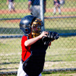 Youth baseball catcher — Stock Photo