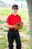 Jugend baseball spielerportrait — Stockfoto