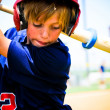 Youth baseball player on deck — Stock Photo #22667129