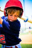 Youth baseball player on deck — Stock Photo
