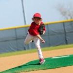 Постер, плакат: Little league pitcher
