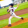 Постер, плакат: Young baseball pitcher