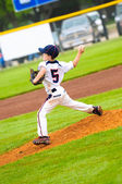 Young baseball pitcher — Stock Photo