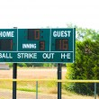 Baseball scoreboard — Stock Photo #23071636