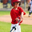 Stock Photo: Boy warming up to bat