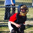 Little baseball catcher — Stock Photo