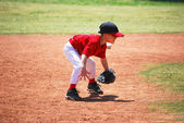 Little league short stop — Stock Photo