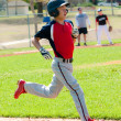 Teen baseball boy running — Stock Photo