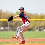 Teen baseball player — Stock Photo