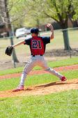 Teen Baseball pitcher — Stock Photo