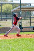 Teen baseball player at bat — Stock Photo