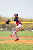 Teen baseball player — Stock Photo