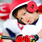 Little league baseball batter up-close — Stock Photo #23766717