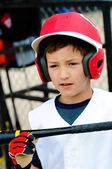 Little league player up close — Stock Photo